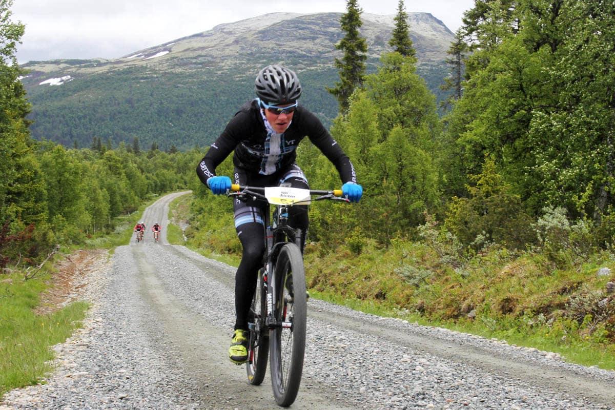 OVERLEGEN: Carl Fredrik Hagen ga gass på søndagens etappe, og det holdt inn.
