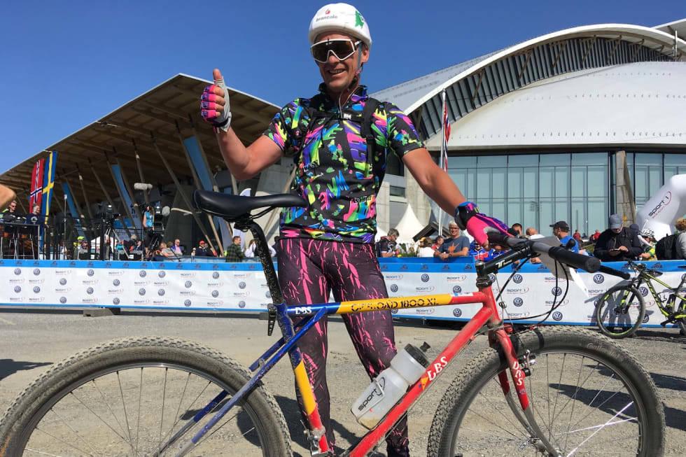 KONGEN AV BIRKEN: Rune Høydahl har flere seiere i Birken enn noen andre. I 1995 vant han også fem verdenscupritt. Her fra fjorårets Retro-birken. Foto: Ingeborg Scheve