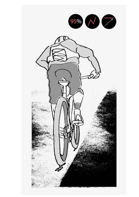 MÅLBEVISST: Terskeltrening er effektiv trening som gir god forbedring i form og resultater. Følg med på puls og effekt for å få maks utbytte uten å gå for langt ned i kjelleren. Illustrasjon: Joar Christophersen.
