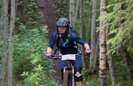 ENDUROJENTE: Stina Bondehagen vant fjorårets Nesbyen Enduro. Foto: Silje Holmsen.