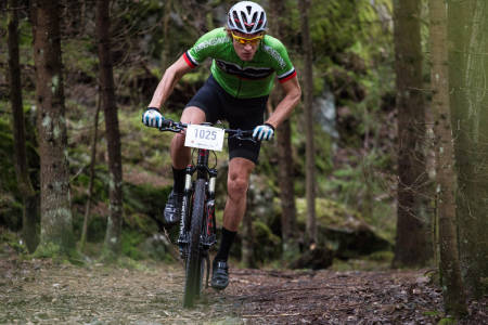 KONKURRANSEKLAR: Utstyrsredaktør Øyvind Aas har lang erfaring med rittsykling og er programleder i Terrengsykkels serie Rittklar. Foto: Christian Nerdrum