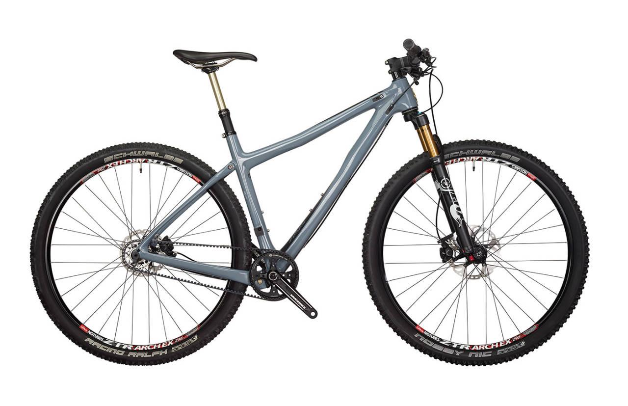IKKE VANLIG: Ibis Tranny er en karbon-29er litt utenom det vanlige. Senkepinne, justerbare kjedestag og muligheten for å dele sykkelen i to er spesielle funksjoner.